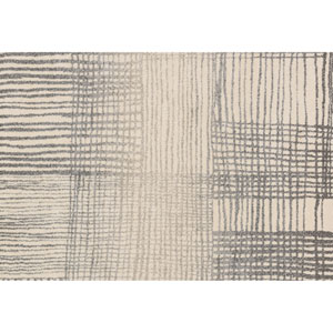 Emory Ivory and Grey Rectangular: 3 Ft 10 In x 5 Ft 7 In Rug