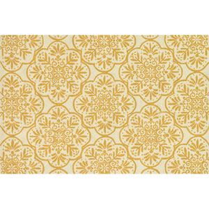 Venice Beach Ivory and Buttercup Rectangular: 2 Ft 3 In x 3 Ft 9 In Rug