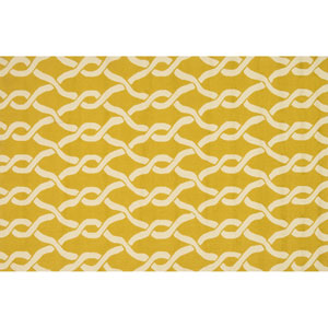 Venice Beach Goldenrod and Ivory Rectangular: 2 Ft 3 In x 3 Ft 9 In Rug