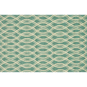 Venice Beach Turquoise and Ivory Rectangular: 2 Ft 3 In x 3 Ft 9 In Rug