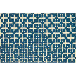 Venice Beach Blue and Ivory Rectangular: 2 Ft 3 In x 3 Ft 9 In Rug