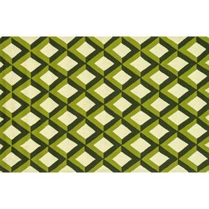 Venice Beach Green Trellis Rectangular: 2 Ft 3 In x 3 Ft 9 In Rug