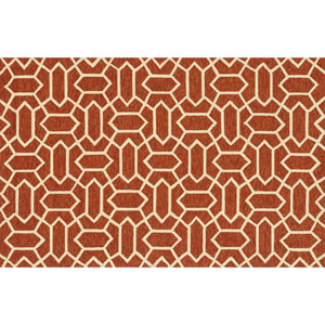 Venice Beach Rust and Ivory Rectangular: 2 Ft 3 In x 3 Ft 9 In Rug