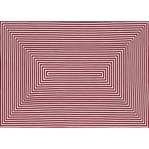 In/Out Red Rectangular: 2 Ft 3 In x 3 Ft 9 In Rug