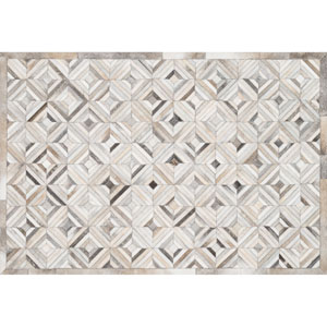 Promenade Ivory and Grey Rectangular: 3 Ft 6 In x 5 Ft 6 In Rug