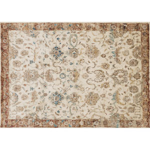 Anastasia Antique Ivory and Rust Round: 5 Ft 3 In Rug