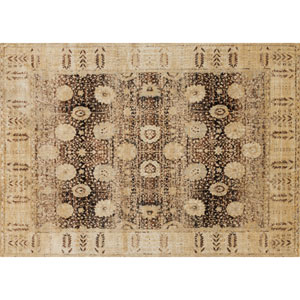 Anastasia Coffee and Gold Rectangular: 2 Ft 7 In x 4 Ft Rug