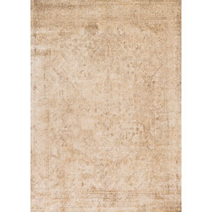 Anastasia Ivory and Light Gold Rectangular: 6 Ft. 7-Inch x 9 Ft. 2-Inch Rug