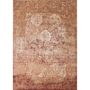 Anastasia Copper and Ivory Rectangular: 6 Ft. 7-Inch x 9 Ft. 2-Inch Rug