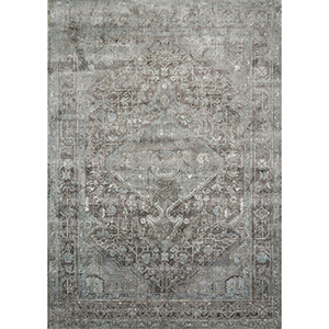 Anastasia Stone and Blue Rectangular: 5 Ft. 3 In. x 7 Ft. 8 In. Rug