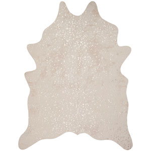 Bryce Ivory and Champagne Rectangular: 5 Ft. x 6 Ft. 6 In. Rug
