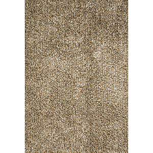 Carrera Shag Gold and Silver Rectangular: 3 Ft. 6 In. x 5 Ft. 6 In. Rug
