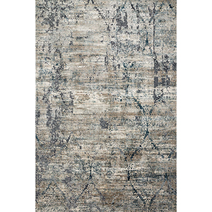 Cascade Taupe and Blue Rectangular: 6 Ft. 7 In. x 9 Ft. 2 In. Rug