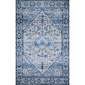 Cielo Ivory and Denim Rectangular: 5 Ft. x 7 Ft. 6 In. Rug