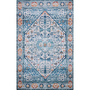 Cielo Ivory and Sunset Rectangular: 5 Ft. x 7 Ft. 6 In. Rug