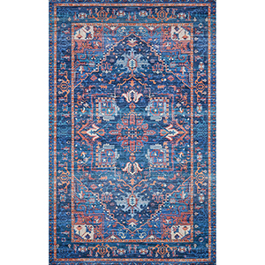 Cielo Blue and Multicolor Rectangular: 3 Ft. x 5 Ft. Rug