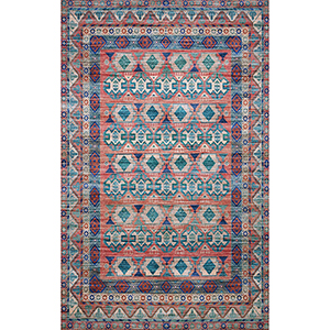 Cielo Terracotta and Multicolor Rectangular: 5 Ft. x 7 Ft. 6 In. Rug
