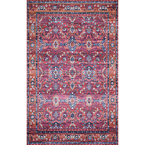 Cielo Berry and Tangerine Rectangular: 5 Ft. x 7 Ft. 6 In. Rug