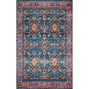 Cielo Ocean and Coral Rectangular: 2 Ft. 3 In. x 4 Ft. Rug