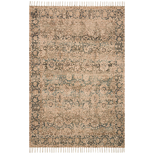 Cielo Natural and Teal Rectangular: 5 Ft. x 7 Ft. 6 In. Rug