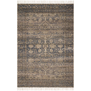 Cielo Indigo and Natural Rectangular: 7 Ft. 9 In. x 9 Ft. 9 In. Rug