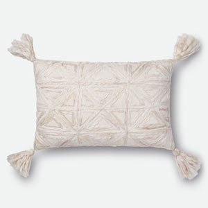 Natural 13 In. x 21 In. Pillow Cover with Down Insert
