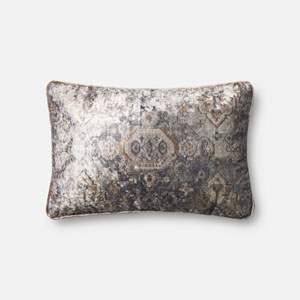 Multicolor 13 x 21 In. Pillow with Down Fill