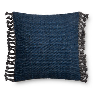 Navy 22 In. Pillow with Down Fill