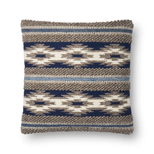 Multicolor 22 In. Pillow with Down Fill