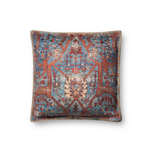 Multicolor 18 In. Pillow with Down Fill