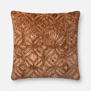 Clay 22 In. x 22 In. Throw Pillow with Down Fill