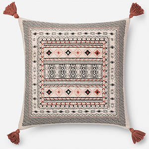 Multicolor 22 In. x 22 In. Throw Pillow with Down Fill