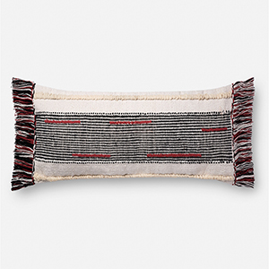 Natural and Multicolor 13 In. x 35 In. Throw Pillow with Down Fill