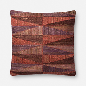 Mulberry 22 In. x 22 In. Throw Pillow with Down Fill