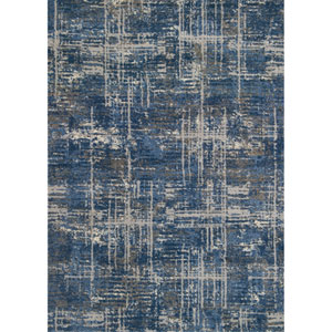Emory Blue and Grey Runner: 2 Ft. 5 In. x 7 Ft. 7 In.  Rug