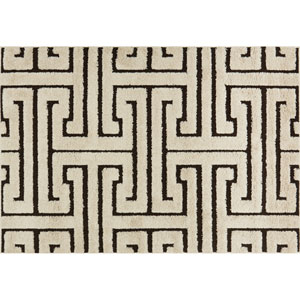 Enchant Ivory and Dark Brown Rectangular: 2 Ft. 3-Inch x 3 Ft. 9-Inch Area Rug