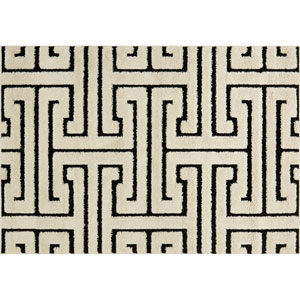 Enchant White and Black Rectangular: 2 Ft. 3-Inch x 3 Ft. 9-Inch Area Rug