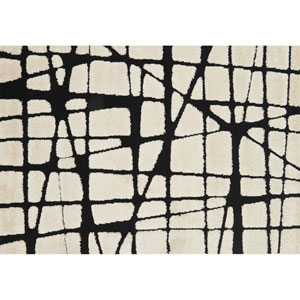 Enchant White and Black Rectangular: 2 Ft. 3 In. x 3 Ft. 9 In. Rug