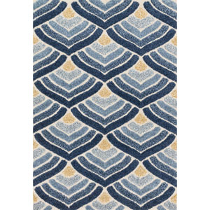 Enchant Ivory and Blue Rectangular: 2 Ft. 3-Inch x 3 Ft. 9-Inch Rug