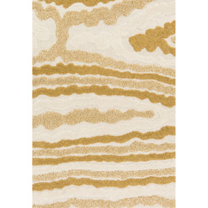 Enchant Ivory and Gold Rectangular: 2 Ft. 3-Inch x 3 Ft. 9-Inch Rug