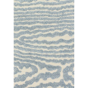 Enchant Ivory and Light Blue Rectangular: 2 Ft. 3-Inch x 3 Ft. 9-Inch Rug