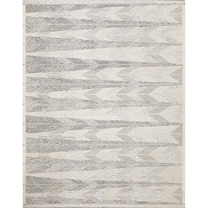 Evelina Pewter and Silver Square: 1 Ft. 6 In. x 1 Ft. 6 In. Rug