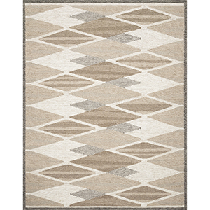 Evelina Taupe and Bark Square: 1 Ft. 6 In. x 1 Ft. 6 In. Rug