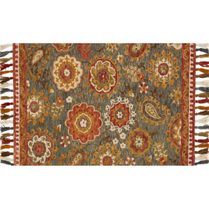 Farrah Gray and Spice Rectangular: 2 Ft. 3-Inch x 3 Ft. 9-Inch Area Rug