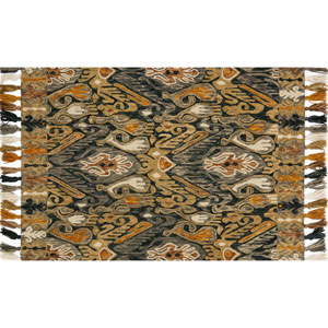Farrah Charcoal and Khaki Rectangular: 2 Ft. 3-Inch x 3 Ft. 9-Inch Area Rug