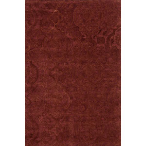 Filigree Rust Rectangular: 3 Ft. 6-Inch x 5 Ft. 6-Inch Rug