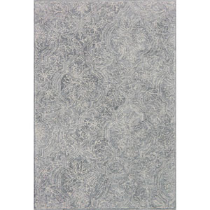 Filigree Silver Rectangular: 3 Ft. 6-Inch x 5 Ft. 6-Inch Rug