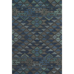 Gemology Navy Gray Rectangular: 3 Ft. 6-Inch x 5 Ft. 6-Inch Rug
