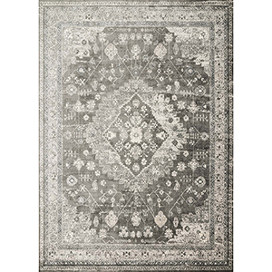 Griffin Charcoal Rectangular: 9 Ft. 2 In. x 12 Ft. 2 In. Rug