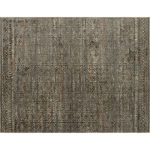 Javari Charcoal and Silver Square: 1 Ft. 6-Inch x 1 Ft. 6-Inch